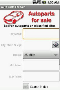 Auto Parts For Sale - screenshot thumbnail