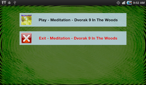 Meditation Dvorak In The Woods