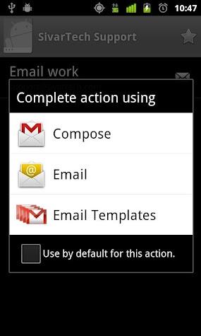 Email Templates Screenshot