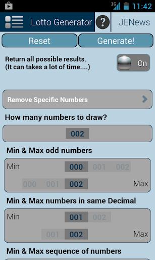Universal Lotto Generator