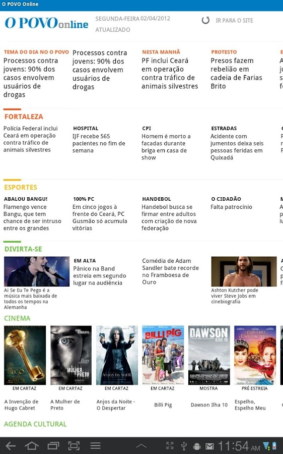 O POVO Online - Tablet- screenshot
