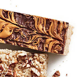 Chocolate-Butterscotch Chewy Crispy Bars.