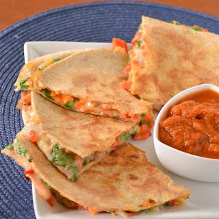 Loaded Vegetarian Quesadillas.