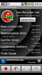 Livo Recorder Lite - screenshot thumbnail