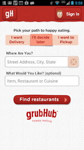 GrubHub Food Delivery/Takeout - screenshot thumbnail