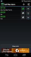 Screenshot of Call Filter Alarm