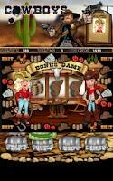 Screenshot of Cowboys Slot Machine HD