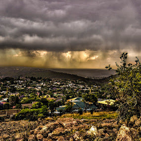 Cloud view by Hilton Viney - Landscapes Weather ( clouds, canon, boulders, hdr, colorful, beautiful, 600d, storm, photography, mountains, eos, nature, view )