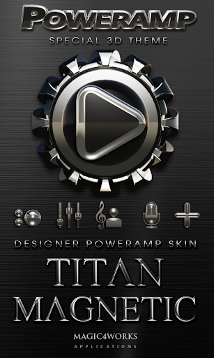 Poweramp skin Magnetic