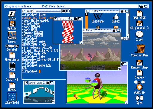 amiga workbench emulator by christophe r u00e9sign u00e9