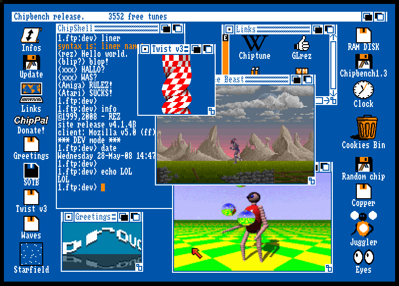 Amiga Workbench Emulator by Christophe Résigné | Experiments