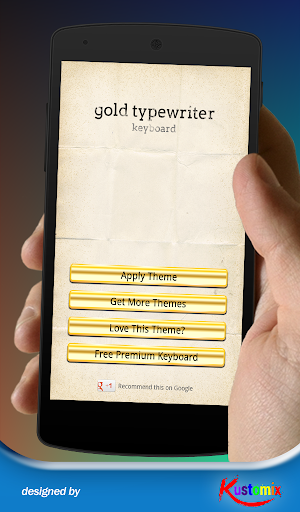 Gold Typewriter keyboard