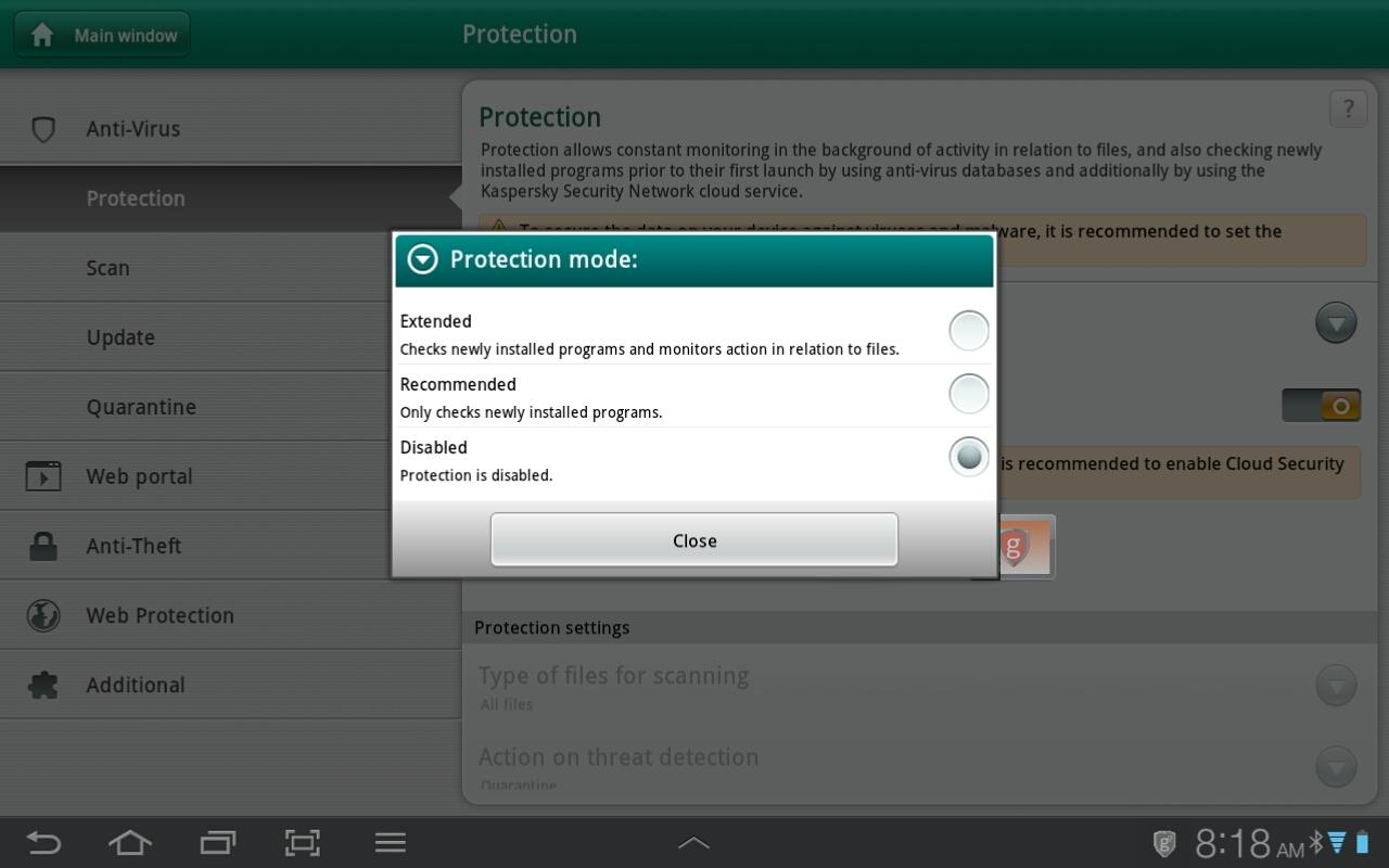 g7enius Tablet Security - screenshot