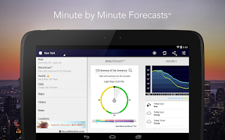 Screenshot of AccuWeather