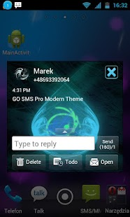 GO SMS Pro Modern Theme - screenshot thumbnail
