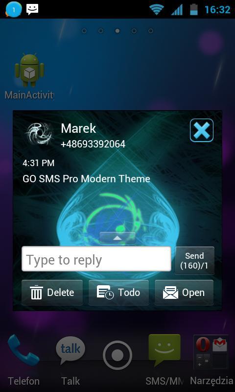 GO SMS Pro Modern Theme - screenshot