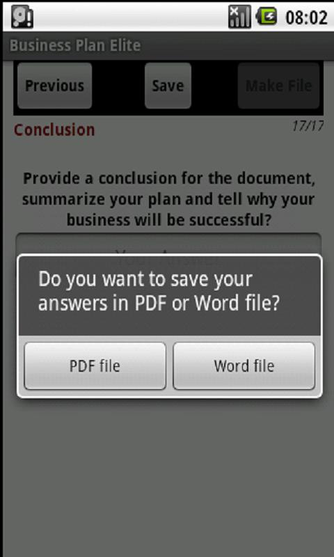 Business Plan  (PDF & Word)- screenshot
