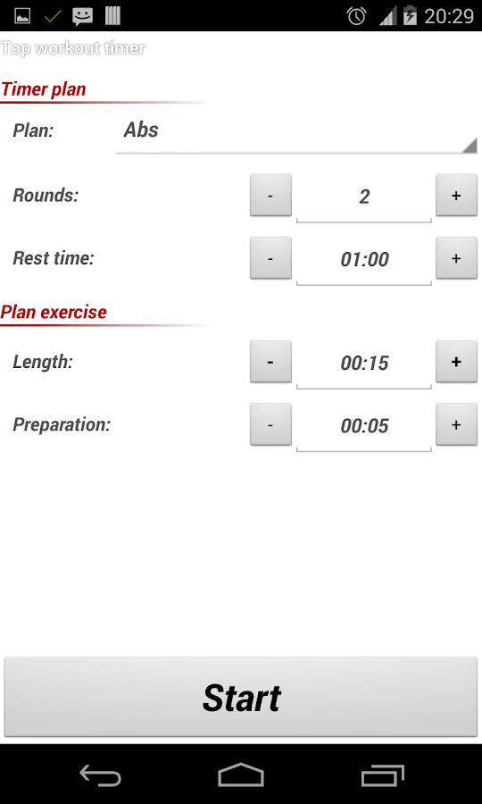 Top Workout Timer Lite - screenshot