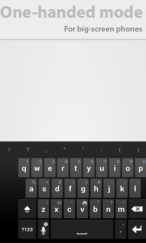 Thumb Keyboard- screenshot