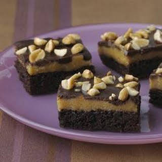 Triple-Layer Peanut Butter Brownies.