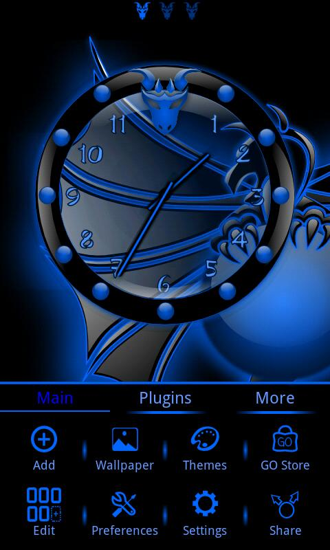 Dragonglow 2 Clock Widget- screenshot