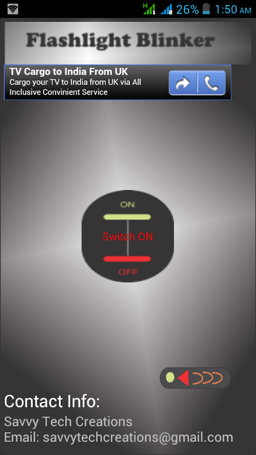 FlashLight Blinker - screenshot
