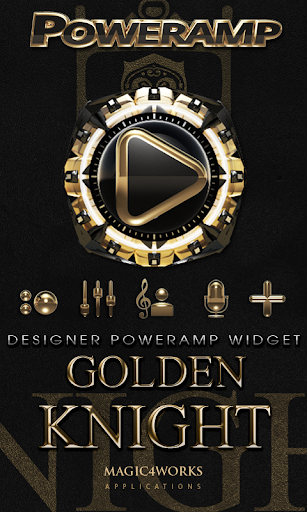 Poweramp Widget Golden Knight