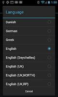 Screenshot of eSpeak TTS