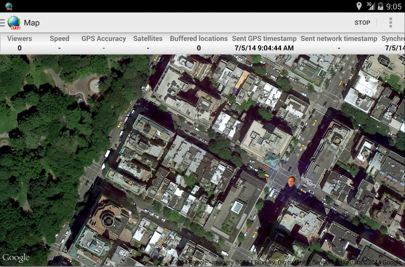 Real-Time GPS Tracker 2 - RTT2- screenshot