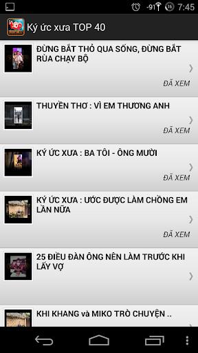 Ký ức xưa - TOP 40 XoneFM