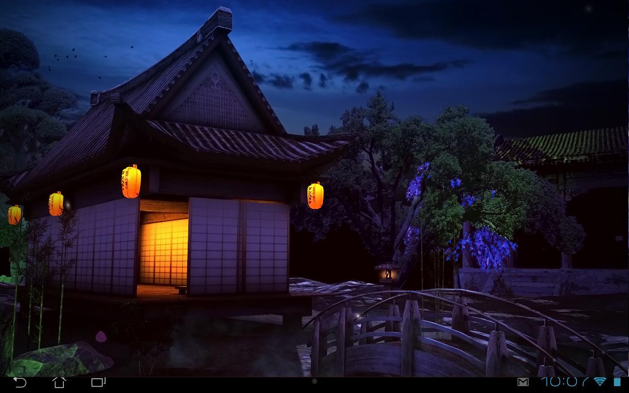 Real zen garden 3d night lwp android apps on google play for Home zone wallpaper blackheath
