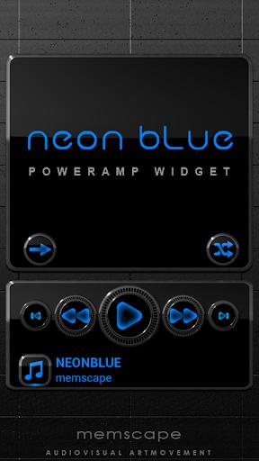 Poweramp Widget NEON BLUE