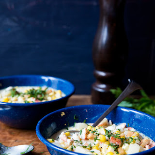 Lobster and Corn Chowder.