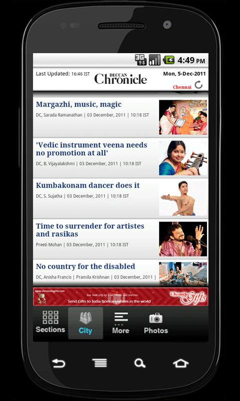 Deccan Chronicle - screenshot