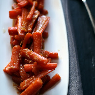 Ginger Candied Carrots.
