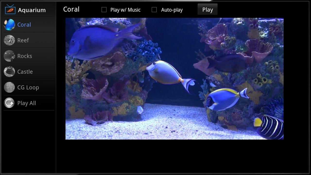 Aquarium for Google TV - screenshot