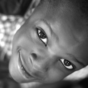 bright eyes... by Joseph Quartson - Babies & Children Child Portraits ( white, cute, smile, black, kid, eyes,  )