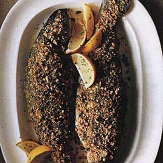 Hazelnut-Crusted Trout