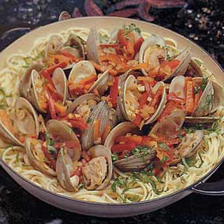 Spicy Asian-Style Noodles with Clams.