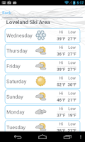 Screenshot of Ski and Snow Report