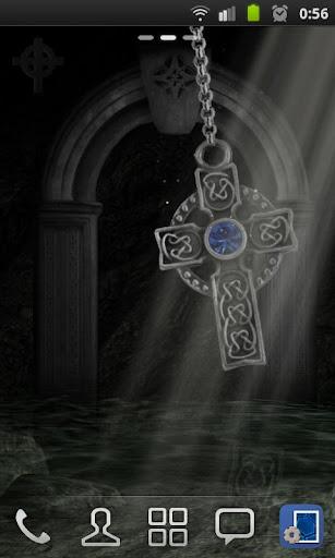3D Celtic Cross Wallpaper
