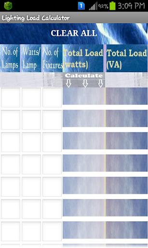 Lighting Load Calculator