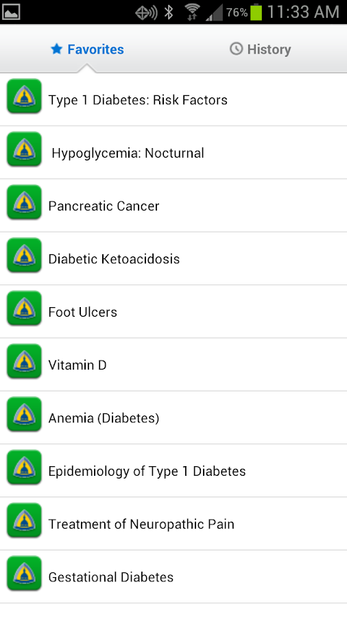 Johns Hopkins Diabetes Guide - screenshot
