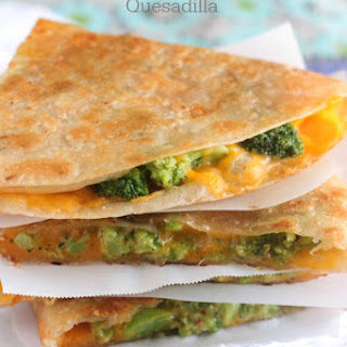 Tuscan Broccoli and Cheese Quesadilla