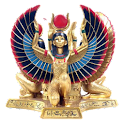 The goddess Isis sticker logo