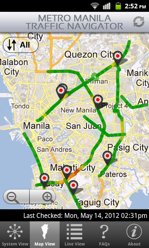 MMDA for Android™- screenshot