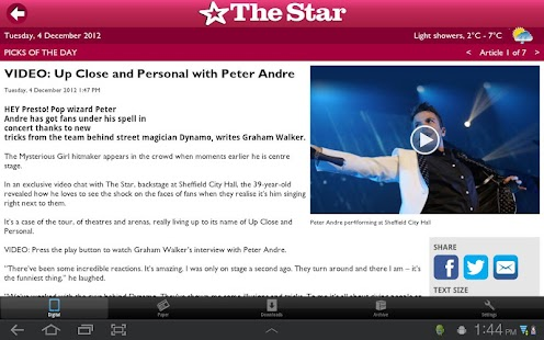 The Star, Sheffield - screenshot thumbnail