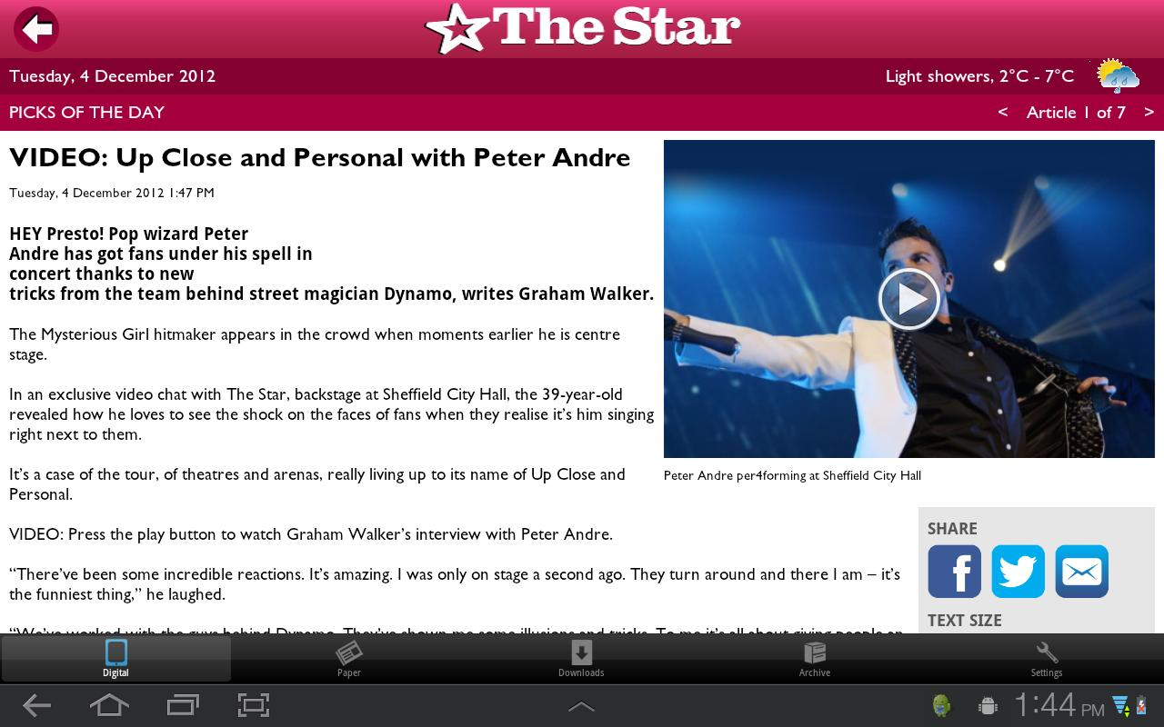 The Star, Sheffield - screenshot
