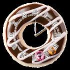 ドーナツ型アラームアナログ時計ウィジェット icon