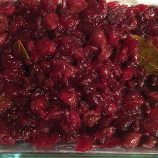 Bay-Infused Cranberry and Dried Fruit Compote